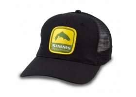 Simms Patch Trucker Cap - BLACK