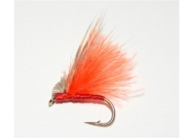 Orange CDC Hair Caddis