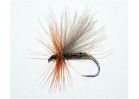 CDC Brown Caddis Flash Tip