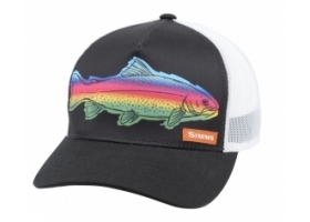 Simms  5 Panel Trucker Cap - Rainbow Black