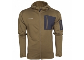 Taimen Polartec Power Stretch Hoody Jacket - Canteen