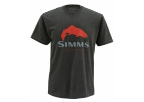 Simms Trout Logo Tee Charcoal Heather T-shirt