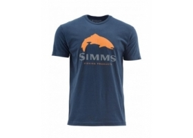 Simms Trout Logo Dark Moon T-shirt