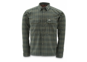 Koszula Simms Coldweather Shirt Black Olive Plaid