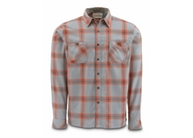 Koszula Simms Black's Ford Flannel Shirt Fury Orange Plaid