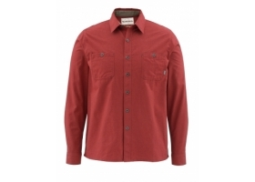 Koszula Simms Black's Ford Flannel Shirt Solid Ruby