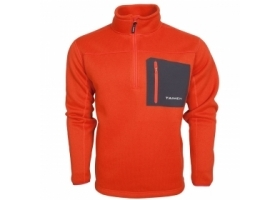 Taimen Polartec Thermal Pro Half Zip Sweater Red Clay