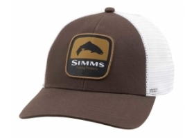 Simms Trout Patch Trucker - Bark