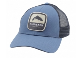 Simms Trout Patch Trucker - Blue Stream