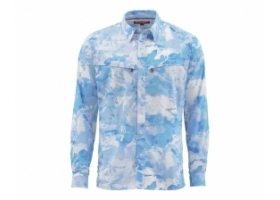 Koszula Simms Intruder BiComp LS Shirt Cloud Camo Blue