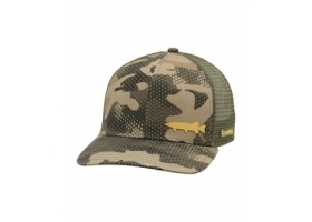 Simms Payoff Trucker Hex Flo Camo Timber
