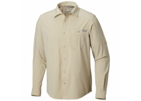 Columbia Triple Canyon Solid Long Sleeve Shirt Fossil