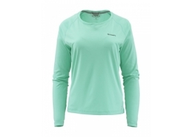 Simms Women's SolarFlex® Crewneck Aruba Heather