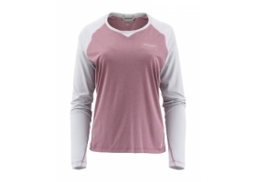 Simms Women's SolarFlex® Crewneck Garnet Heather/Sterling