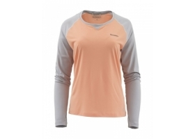 Simms Women's SolarFlex® Crewneck White/Sterling Heather
