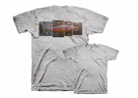 Simms DeYoung Brown Trout T-shirt Grey Heather
