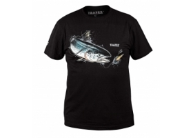 T-Shirt Traper Art Salmon Black
