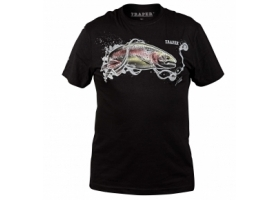 T-Shirt Traper Art Rainbow Trout Black