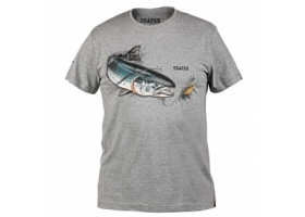T-Shirt Traper Art Salmon Dark Grey