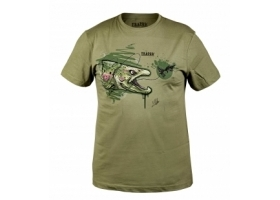 T-Shirt Traper Art Trout Light Khaki