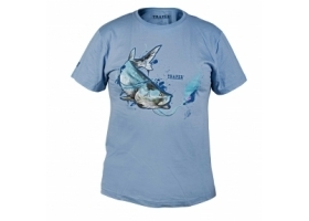 T-Shirt Traper Art Tarpon Light Blue