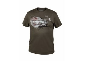 T-Shirt Traper Art Grayling Dark Khaki